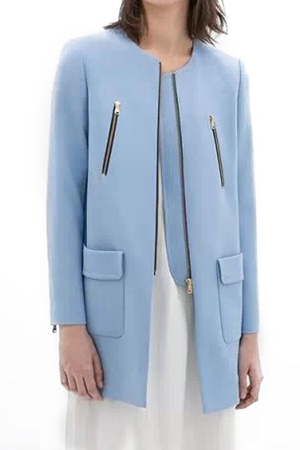 ROMWE Sheer Blue Coat- £27.43